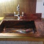 Patinirani bakreni sudoper